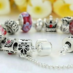 Jewelry - High Quality Silver Charm Bracelet
